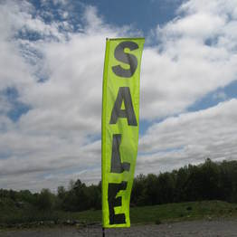 "15' HIGH ""SALE"" FLAG and POST - yellow"